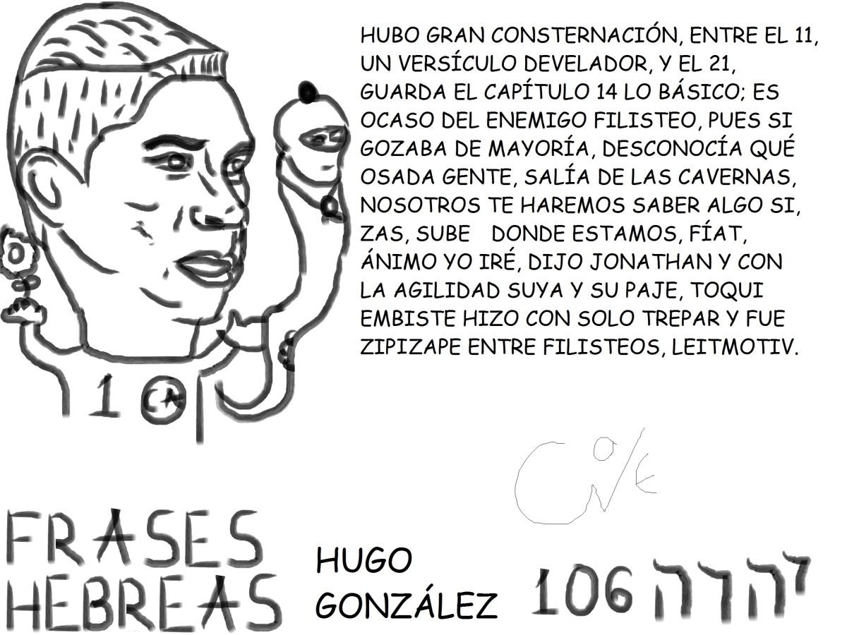 FRASES HEBREAS 106, HUGO GONZÁLEZ, @HUGO_GONZALEZ1,