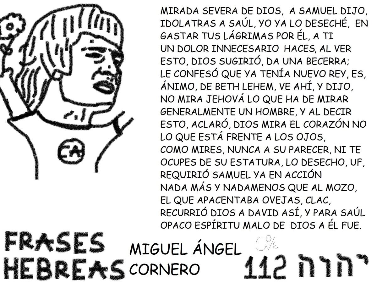 FRASES HEBREAS 112, MIGUEL ÁNGEL CORNERO,