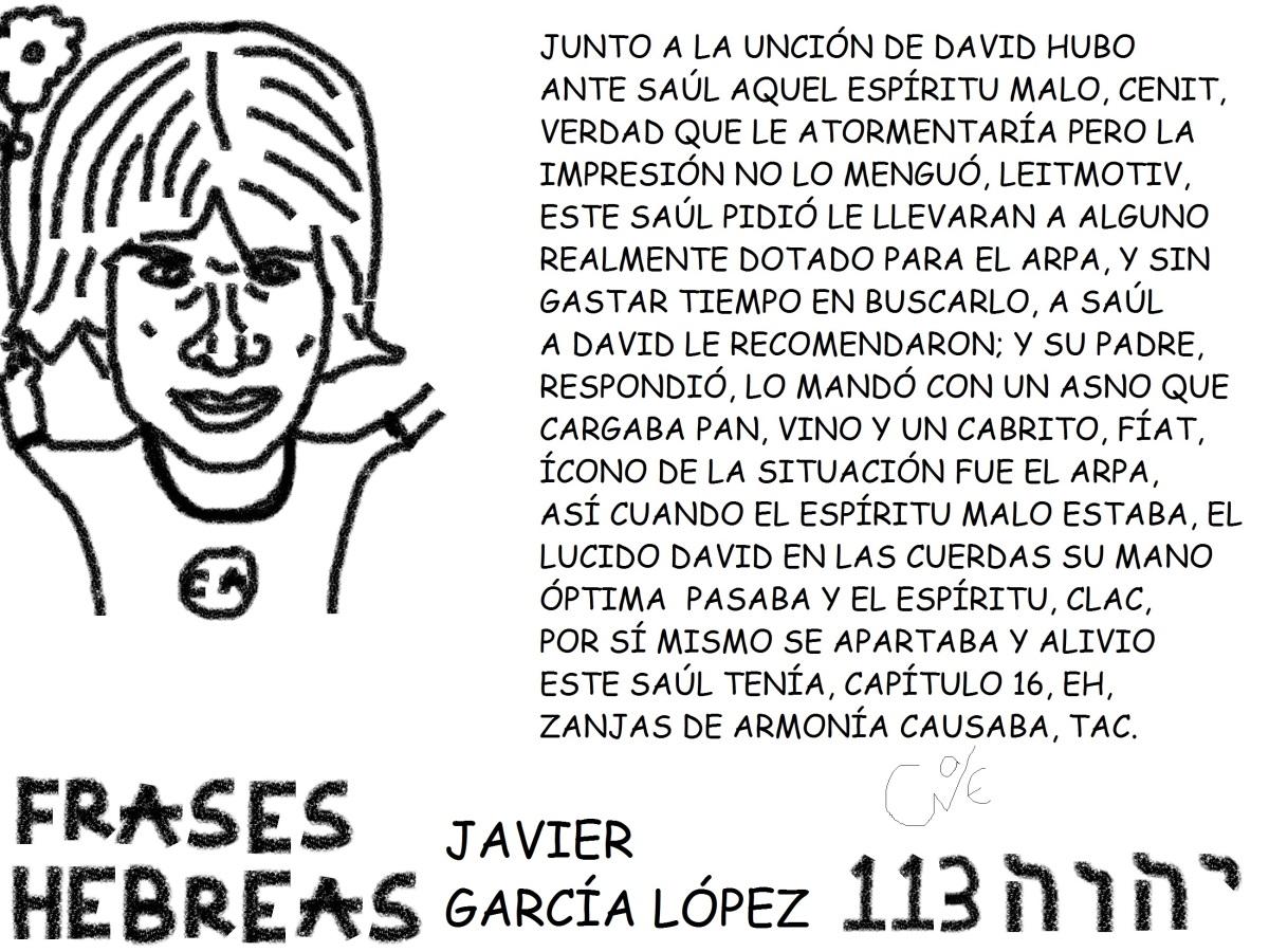 FRASES HEBREAS 113, JAVIER GARCÍALÓPEZ,