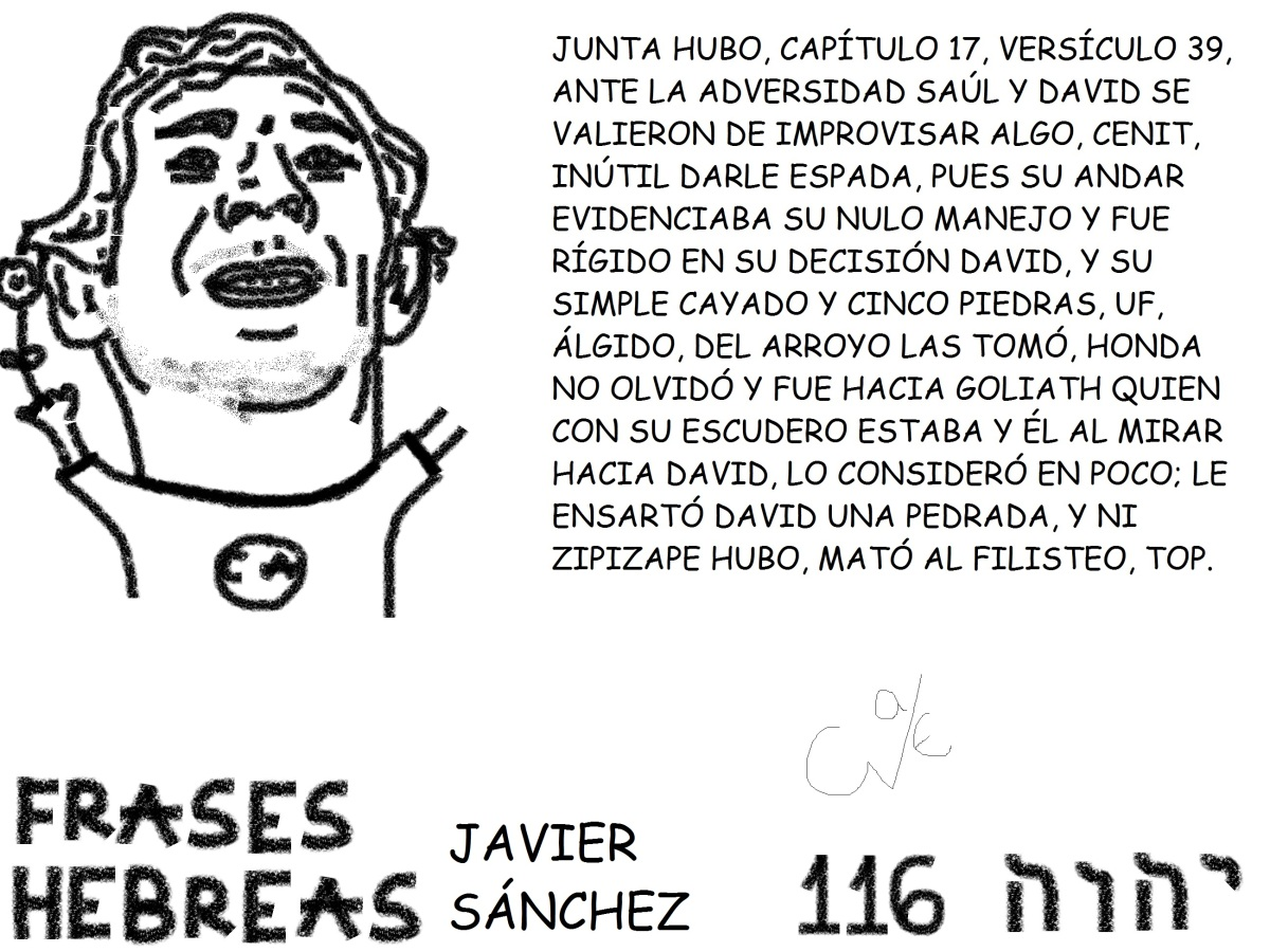 FRASES HEBREAS 116, JAVIERSÁNCHEZ,