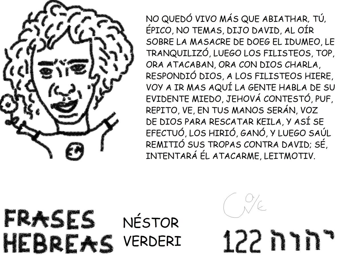 FRASES HEBREAS 122, ,NÉSTORVERDERI,