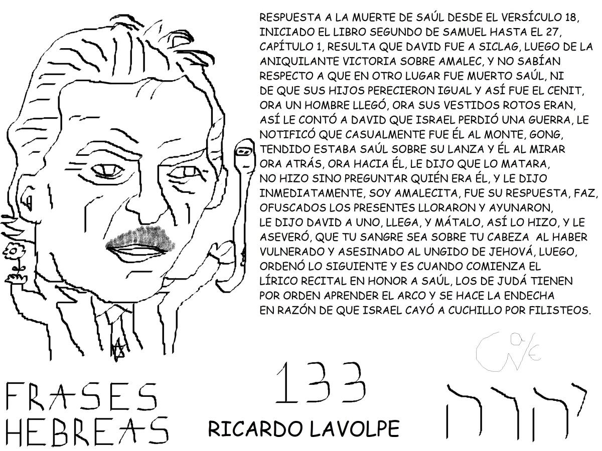FRASES HEBREAS 133, RICARDO ANTONIOLAVOLPE,