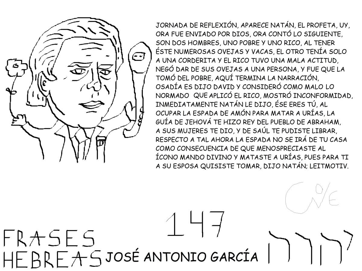 FRASES HEBREAS 147, JOSÉ ANTONIO GARCÍA,@JAGATLANTE,