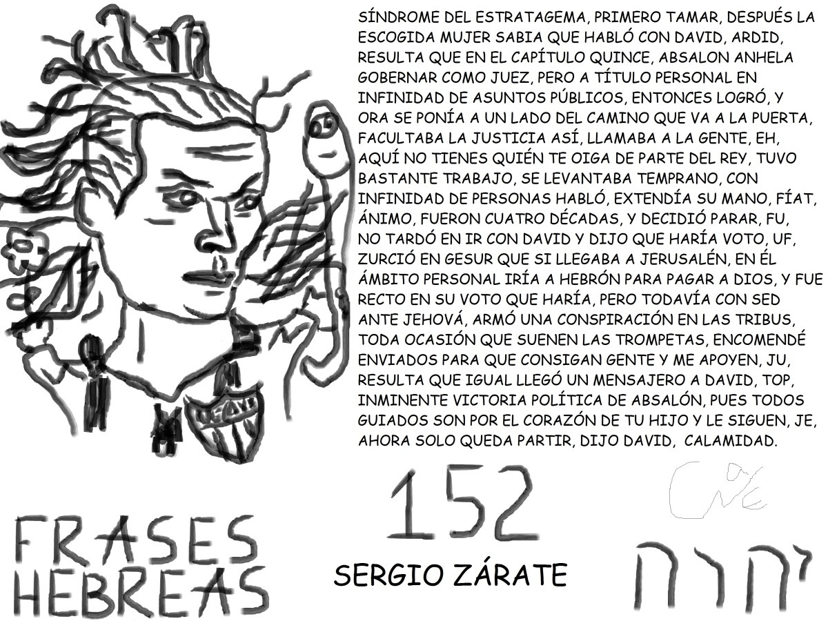 FRASES HEBREAS 152, SERGIOZÁRATE,