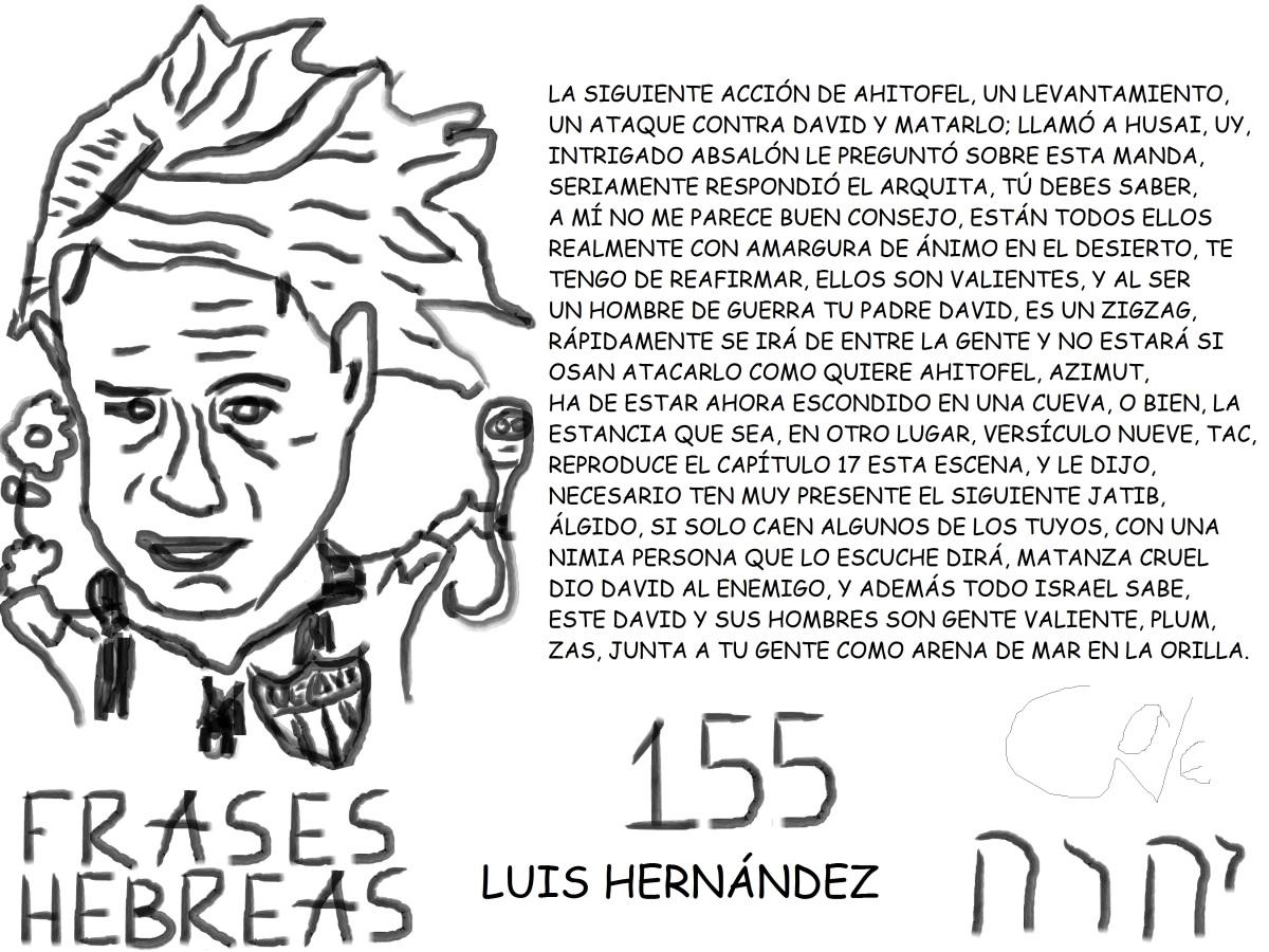 FRASES HEBREAS 155, LUISHERNÁNDEZ,