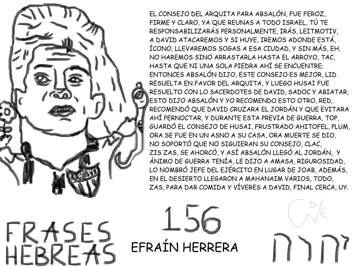FRASES HEBREAS 156, EFRAÍNHERRERA,