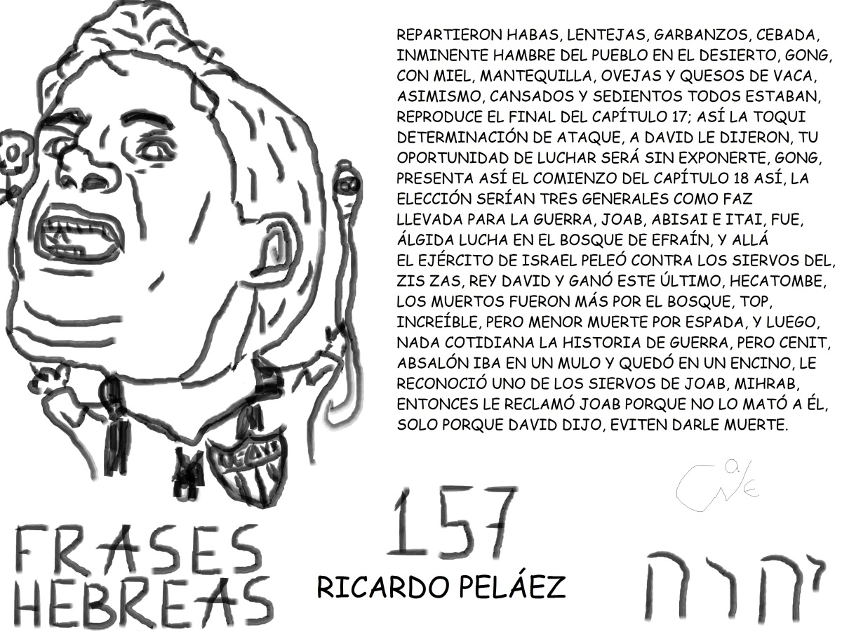FRASES HEBREAS 157, RICARDOPELÁEZ,