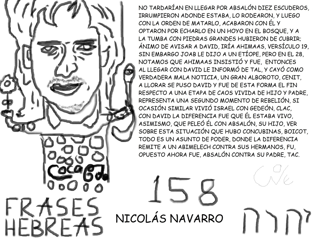 FRASES HEBREAS 158, NICOLÁSNAVARRO,
