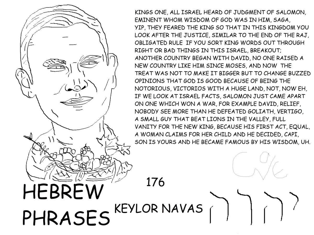 HEBREW PHRASES 176, KEYLOR NAVAS,@NAVASKEYLOR,