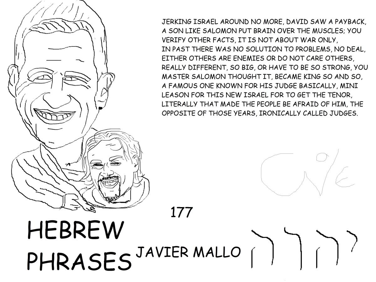 HEBREW PHRASES 177, JAVIERMALLO,