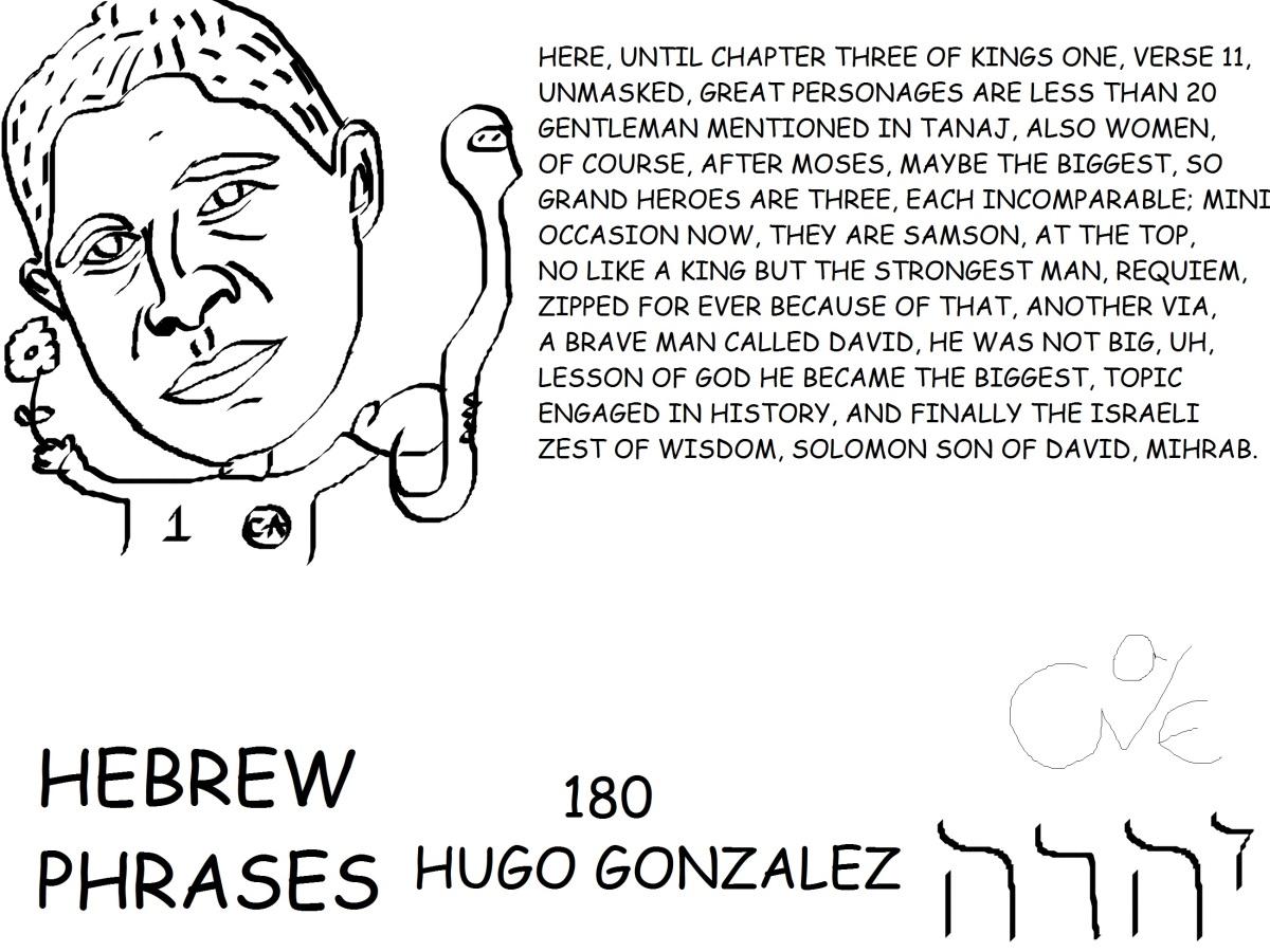 HEBREW PHRASES 180, HUGO GONZALEZ, @HUGO_GONZALEZ1,