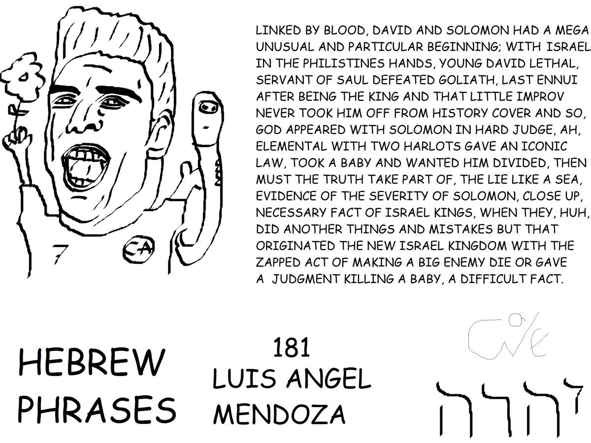 HEBREW PHRASES 181, LUIS ANGEL MENDOZA,@LUOISMENDOZA,