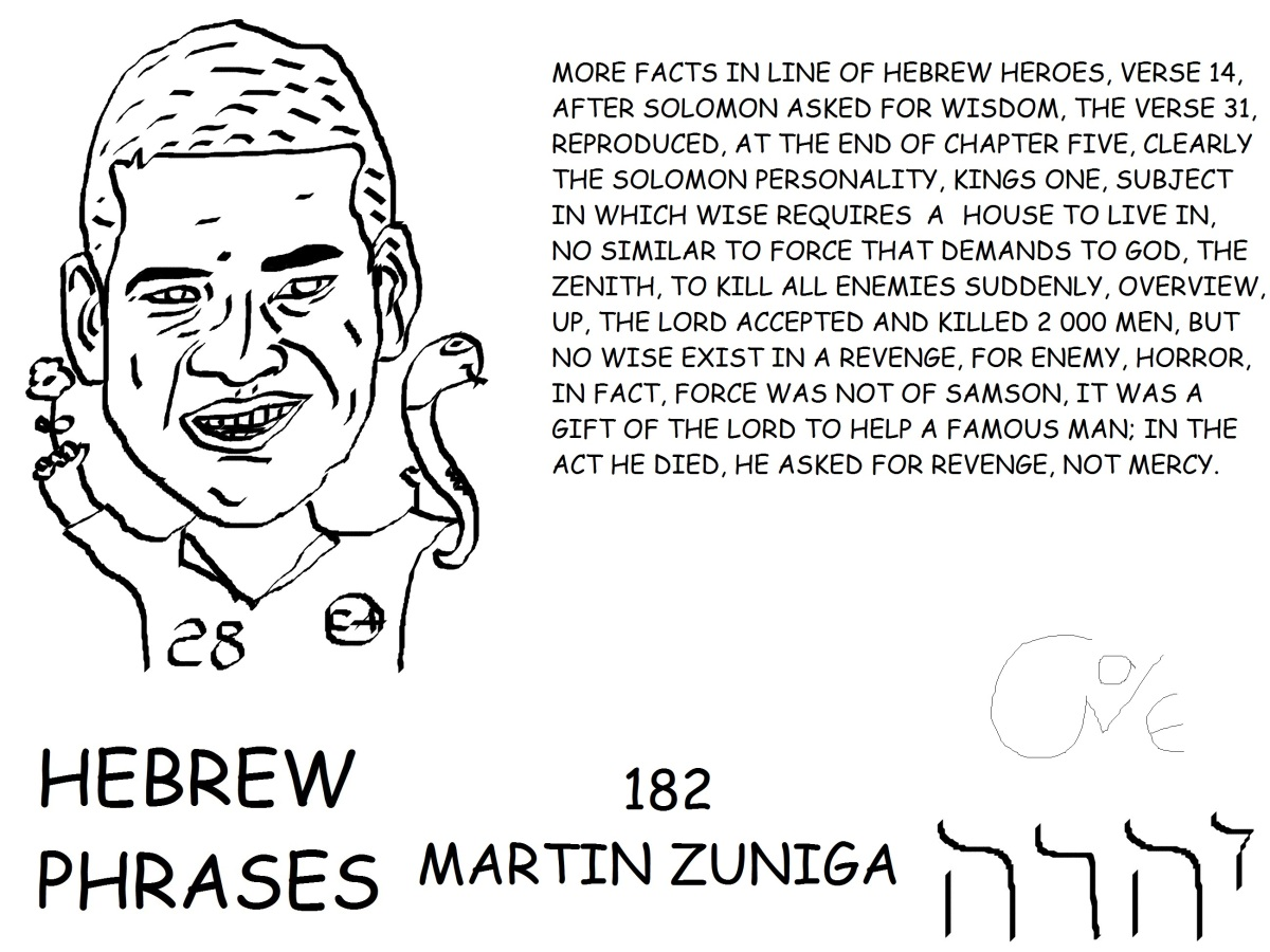 HEBREW PHRASES 182, MARTIN ZUNIGA,@MARTINZB85,