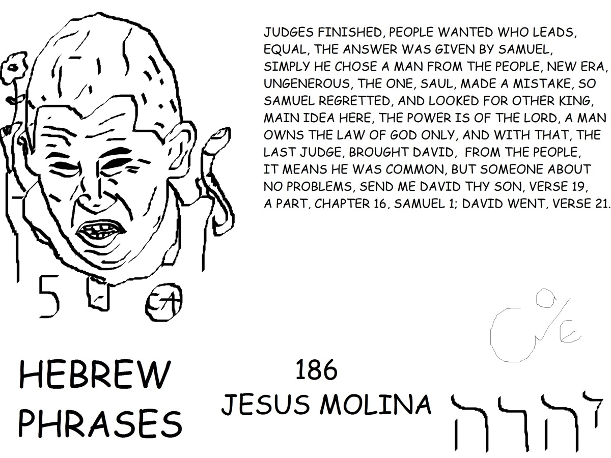 HEBREW PHRASES 186, JESUS MOLINA,@J_MOLINA5,