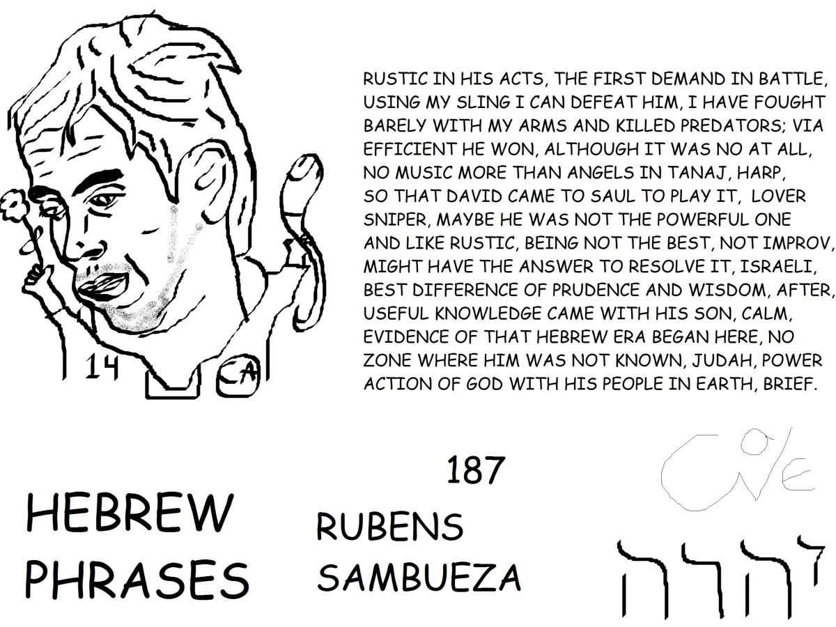 HEBREW PHRASES 187, RUBENS SAMBUEZA, @RUBENSSAMBUEZA,