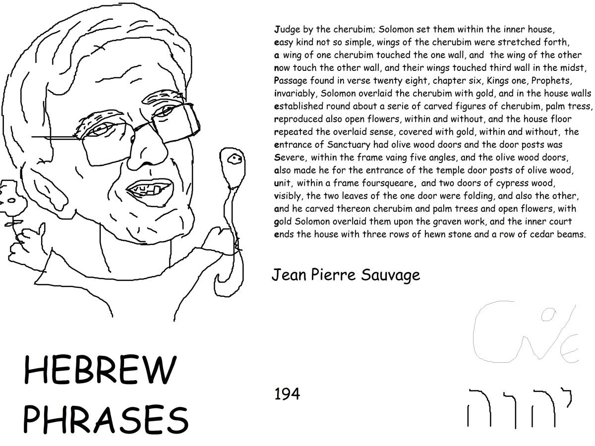 Hebrew phrases 194, Jean PierreSauvage,