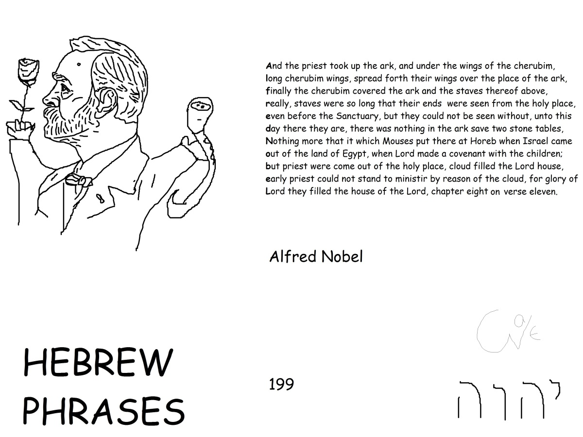 Hebrew phrases 199, Alfred Nobel@NobelPrize,